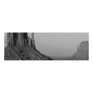 Valle del monumento de B&W en Arizona/Utah 5 Tarjetas De Visita Mini