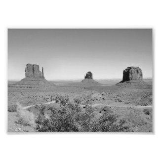 Valle del monumento de B&W en Arizona/Utah Cojinete