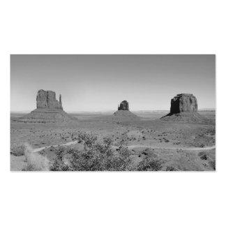 Valle del monumento de B&W en Arizona/Utah Tarjetas De Visita