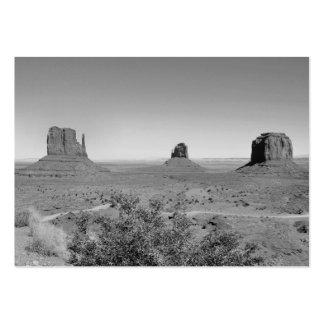 Valle del monumento de B&W en Arizona/Utah Tarjetas De Visita Grandes