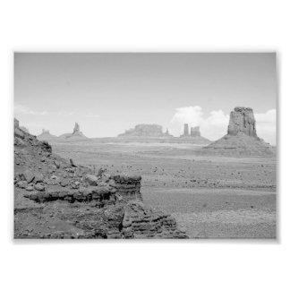 Valle del monumento de B&W Fotografía