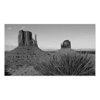 Valle del monumento en Arizona/Utah (blanco y Tarjetas De Visita