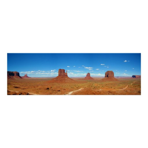 Valle del monumento entre Arizona y Utah Posters