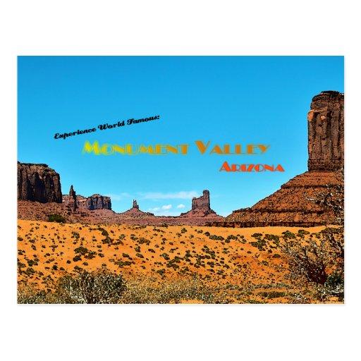 Valle del monumento - estilo del vintage tarjeta postal