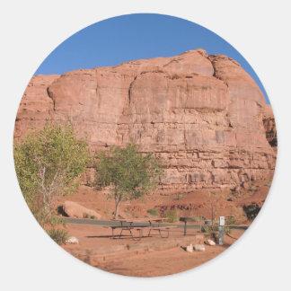 Valle del monumento pegatina redonda