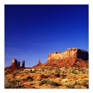 Valle del monumento (polarizado altamente) fotografía