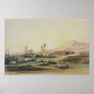 Valle del Nilo con las ruinas del templo de Impresiones