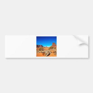 Valle del oeste Arizona del monumento de la manopl Pegatina De Parachoque