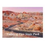 Valle del parque de estado del fuego, postal de Ne