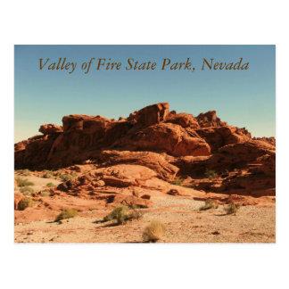 Valle del parque de estado del fuego postal