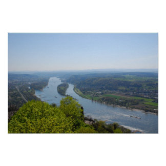 Valle del Rin cerca de Bonn Póster