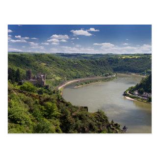 Valle del Rin - postal de Katz del castillo