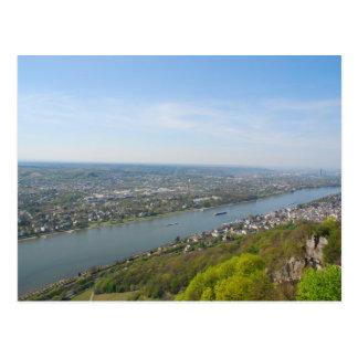 Valle del río Rhine por Bonn, Alemania Tarjeta Postal