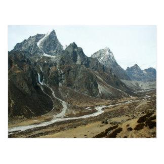 Valle en alto Himalaya cerca del monte Everest Tarjetas Postales