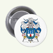 Valle Family Crest Button