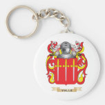 Valle Family Crest (Coat of Arms) Key Chain