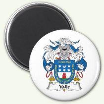 Valle Family Crest Magnet