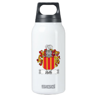 Valle Family Crest Insulated Water Bottle