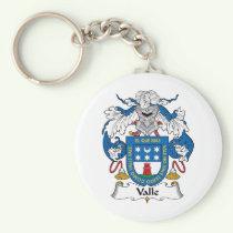Valle Family Crest Keychain