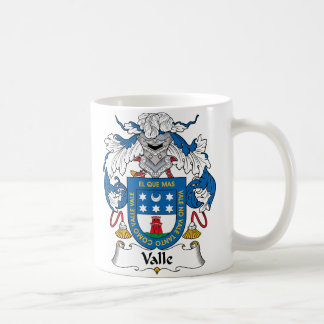 Valle Family Crest Classic White Coffee Mug