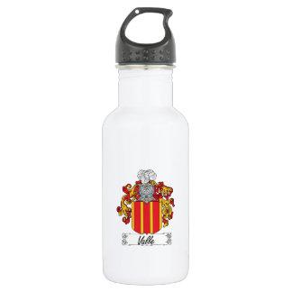 Valle Family Crest Water Bottle