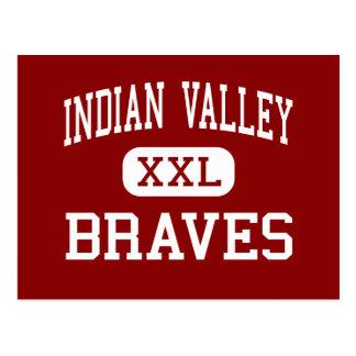 Valle indio - Braves - alto - Gnadenhutten Ohio Tarjetas Postales