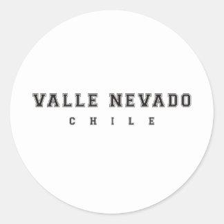 Valle Nevado Chile Pegatina Redonda