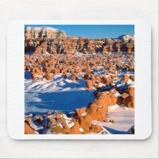 Valle nevado Utah del Goblin de las rocas Alfombrilla De Ratones