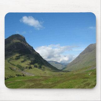 Valle ocultado Glencoe Escocia Tapete De Ratón