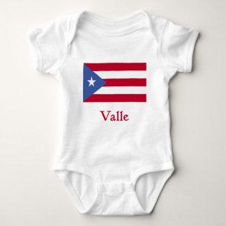 Valle Puerto Rican Flag Baby Bodysuit