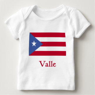 Valle Puerto Rican Flag Baby T-Shirt