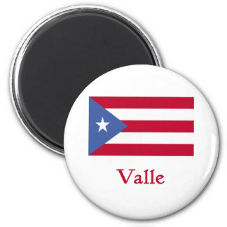 Valle Puerto Rican Flag 2 Inch Round Magnet