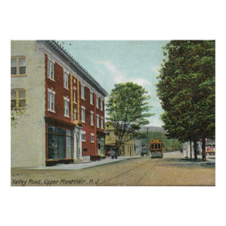Valle Rd., vintage superior 1911 de Montclair NJ Posters