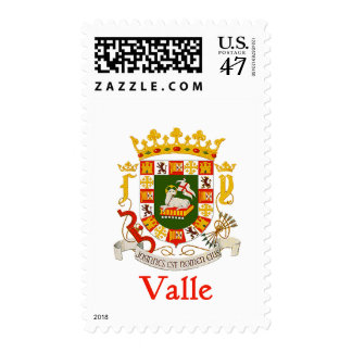 Valle Shield of Puerto Rico Postage