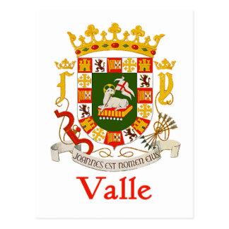 Valle Shield of Puerto Rico Postcard