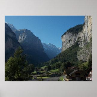 Valle Suiza 1 de Lauterbrunnen Póster