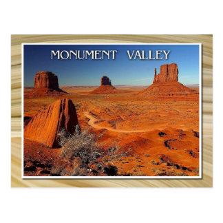 Valle, Utah y Arizona del monumento Tarjetas Postales