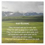 Valle verde de la bendición irlandesa azulejo cuadrado grande