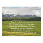 Valle verde de la bendición irlandesa tarjeta postal