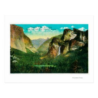 Valle ViewYosemite, CA de Yosemite Postales