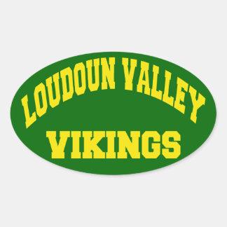 Valle Vikingos de Loudoun Pegatina Ovalada