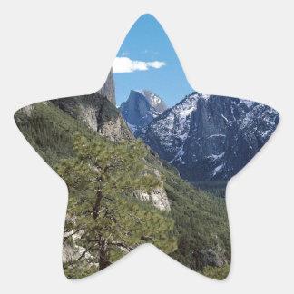 Valle Vista Yosemite de la montaña Pegatina En Forma De Estrella