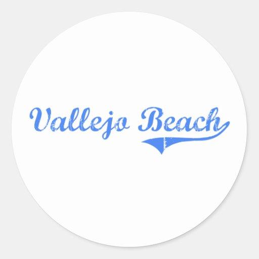 Vallejo Beach California Classic Design Stickers