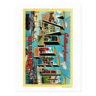 Vallejo, California - Large Letter Scenes Postcard