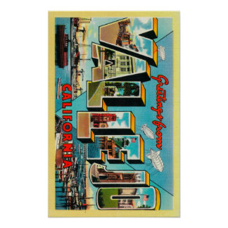 Vallejo, California - Large Letter Scenes Posters