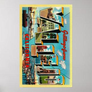 Vallejo, California - Large Letter Scenes Poster