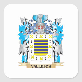 Vallejos Coat of Arms - Family Crest Square Sticker