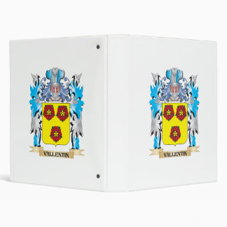 Vallentin Coat of Arms - Family Crest 3 Ring Binders