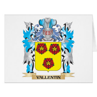 Vallentin Coat of Arms - Family Crest Big Greeting Card