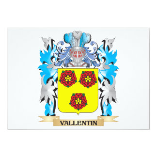 """Vallentin Coat of Arms - Family Crest 5"""" X 7"""" Invitation Card"""